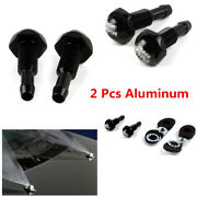 2x Aluminum Windshield Wiper Water Jet Spray Washer Nozzle Kits For Car Vehicle