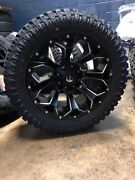 20x10 Fuel D546 Assault 33 At Xt Wheel And Tire Package 5x150 Toyota Tundra