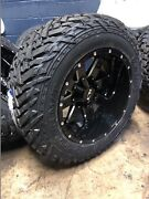 20x12 Ion 141 Black 35 Fuel Mt Wheel And Tire Package 5x5.5 Dodge Ram 1500