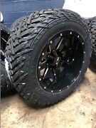 20x12 Ion 141 Black 35 Fuel Mt Wheel And Tire Package 8x180 Gmc Sierra