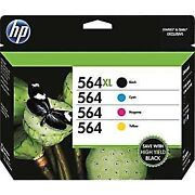 Hp 564xl/564 High Yield Black And Standard C/m/y Color Ink Cartridges In...