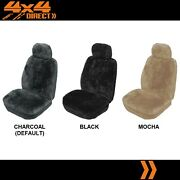 Single 27mm Sheepskin All Over Car Seat Cover For Mahindra Genio