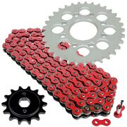 Red Drive Chain And Sprocket Kit For Honda Cmx250c Rebel 250 1985-2016