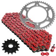 Red Drive Chain And Sprocket Kit For Honda Xr400r 1996-2004