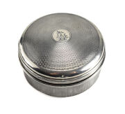 Jand039aime French 950 Silver And Glass Lined Powder Box C1900