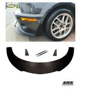 Front Splitter+ 2 Support Rods+ 2 Winglets For 2007-2009 Shelby Gt500 Mustangs