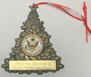 Dos Dept Of State 3d Christmas Tree Ornament W 1.75 Emblem And Custom Engraving