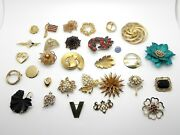 375 Pieces Wearable Vintage Gold Plate Stones Costume Jewelry Lot 4643g 10lbs