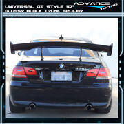 Adjustable Gt 57 Inch 150cm Trunk Spoiler Wing And Leg Stand - Gloss Black Abs