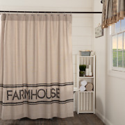 Sawyer Mill Charcoal Shower Curtains Country Farmhouse Stencil Patchwork