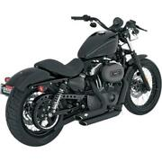 04-13 Hd Sportster Xl Vance And Hines Shortshots Staggered Exhaust System 47219