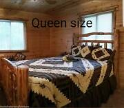Deluxe Log Bed Rustic Log Bed For Cabin Or Home Free Quickshipping