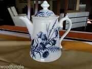 Rare 19th C Antique Villeroy And Boch Wallerfangen Germany Floral Teapot Daisy