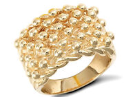 9ct Yellow Gold Hallmarked Gents Solid Keeper Ring