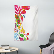 Paisley Tapestry Retro Floral Leaf Art Print Wall Hanging Decor