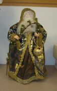 Pink Rose Victorian Santa Clause 19 Christmas Table Top Tree Topper