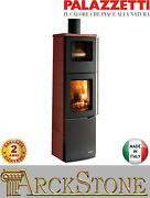 Stove Wood Air Warm Natural Home Palazzetti Eva S Oven 9 Kw Ceramics Red