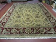 9and039 X 12and039 Vintage Hand Made India Oriental Jaipur Quality Tea Wash Hand Knotted