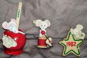 ⭐euc⭐ Set Of 3 Vintage Hallmark Mouse Ornaments And03982 And03985 And03986 Free Shipping