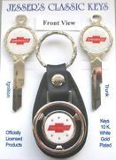 White Chevrolet Red Bow Tie White Gold B10 Deluxe Classic Key Set 1945 1946 1947