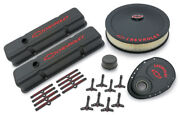 Proform 141-758 Black Crinkle Deluxe Dress-up Kit For Chevy Small-block Engines