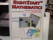 Rightstart Mathematics Level A For Home Educators By Joan A. Cotter 2001,...