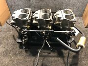 Mercury Carb Top 828272a13 And Carb Center 828272a14 And Carb Bot 828272a15 And Reeds