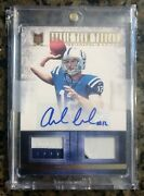 2012 Rookie Team Threads Andrew Luck Dual Patch Rookie Auto /15