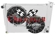1968-74 Dodge Plymouth Cross Flow Ar Radiator And Fan Shroud For Small Block