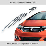 Fits 2018-2019 Honda Fit With Logo Show Main Upper Stainless Billet Grille