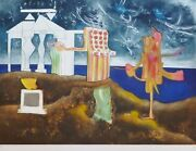 Roberto Matta 12 Pm Land039arc Obscure Des Heures Etching/aquatint Hand Signed Obscur