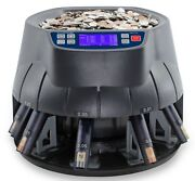 Accubanker Sort And Wrap Coin Counter Sorter Roller Ab510 Us Coins Only 110v