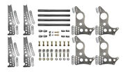 Pro Series 4-link Kit, 4130 13 Notched Brackets, 3 Axle Hole W/ Doublers