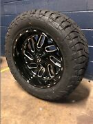 20x10 Fuel D581 Triton 33 At Wheel And Tire Package 8x170 Ford Super F250 F350