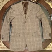 Purple Label Wool And Cashmere Glen Plaid Suit 39r Made In England