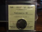 Very Rare Canada Five 5 Cents 2000 P Iccs Ms-65 Numismatic Bu Proof Like