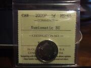 Very Rare Canada Five 5 Cents 2000 P Iccs Ms-65, Numismatic Bu, Proof Like