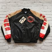 Vintage New San Francisco 49ers Jacket By Chalk Line Size L Made In Usa