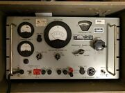 1960s Me-57 Military Modulation Meter With Original Case - Tested And Working