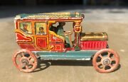 Early Vintage Fine Small/penny Litho Meir Brand Gesh. Car Tin Toy Germany