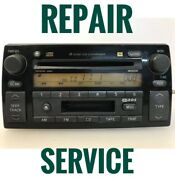 Repair Service For 02-04 Toyota Camry Radio 6 Cd Player 86120-aa090 A56822