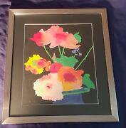 Kitchell Or Kitcheil Original Signed Watercolor 1972 Modern Art Flowers Rare