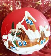 Bauble Red Christmas Hand Painted Christmas Tree Ornaments