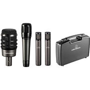 Audio-technica Atm-drum4 Drum Mic Pack W/ Kick, Snare, Overheads And Case