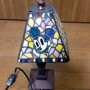 Mickey Minnie Mouse Handstand Light Table Lamp Stained Glass Tokyo Disneysea