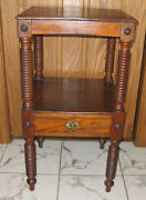 19th. Century Unsusual Carved Mahogany Small Side Table
