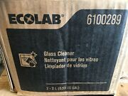 Case Of 2 Ecolab 6100289 Glass Cleaner 2l Bags