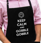 Keep Calm Gobble Turkey Funny Novelty Apron Gift For Dad, Husband