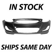 New Primered - Front Bumper Cover For 2014-2017 Hyundai Accent Sedan And Hatchback