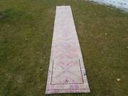 Primitive Vintage 1960 -1970s Kurdish Tribal Herki Rug Runner 1and03912and039and039 X 13and0393and039and039